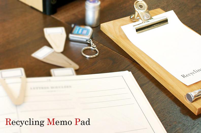リサイクルメモパッド Recycling Memo Pad