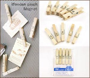 木製ピンチ/マグネット