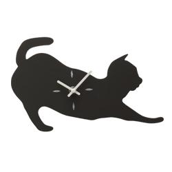 動物黒板時計 ネコ