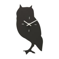 動物黒板時計 フクロウ